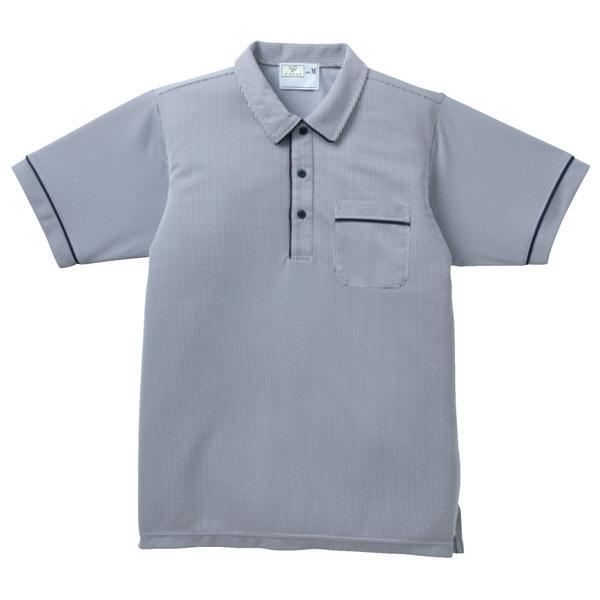 トンボ キラク ニットシャツ  チェック  ネイビー M CR123-09 1枚  (取寄品)