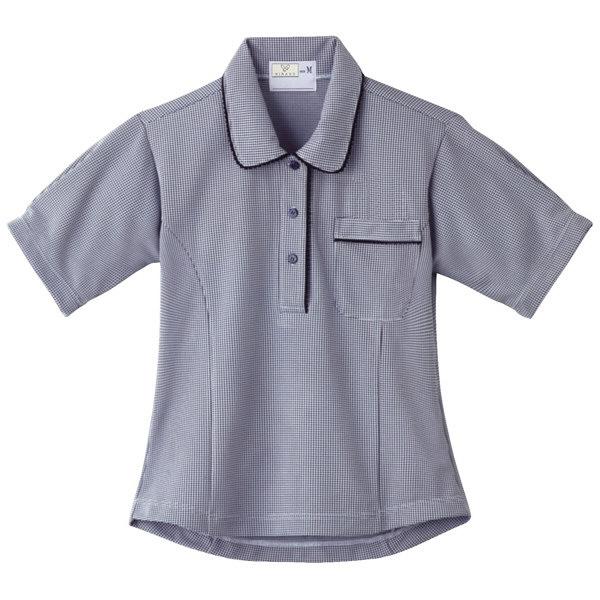 トンボ キラク レディスニットシャツ チェックネイビーLL LL CR124-09 1枚  (取寄品)