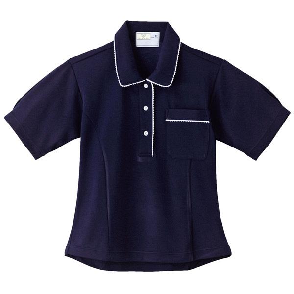 トンボ キラク レディスニットシャツ ネイビー LL CR124-88 1枚  (取寄品)
