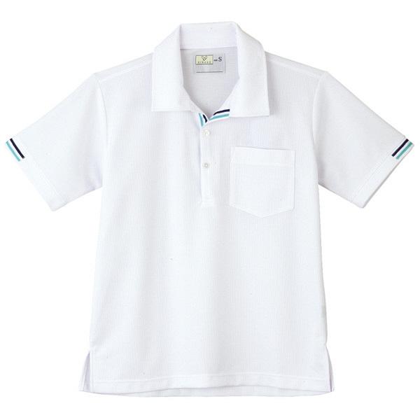 トンボ キラク ニットシャツ  白 L CR127-01 1枚  (取寄品)