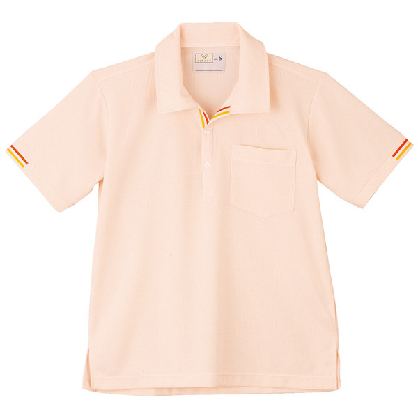 トンボ キラク ニットシャツ  白×オレンジ LL CR127-59 1枚  (取寄品)