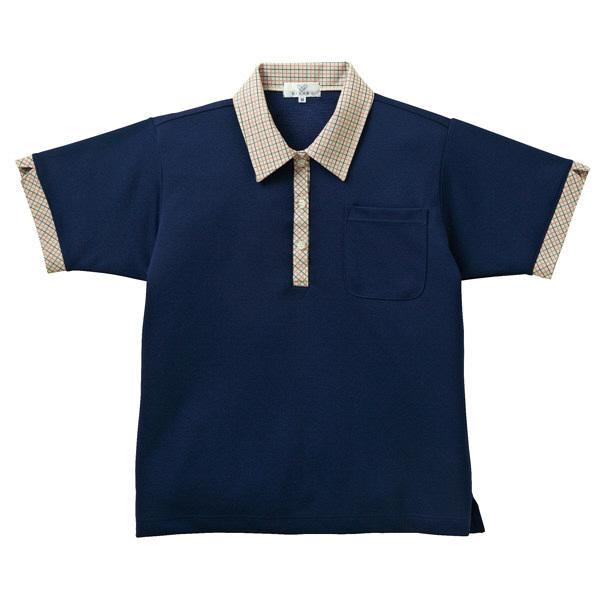 トンボ キラク ニットシャツ  ネイビート  S   3L CR132-88 1枚  (取寄品)