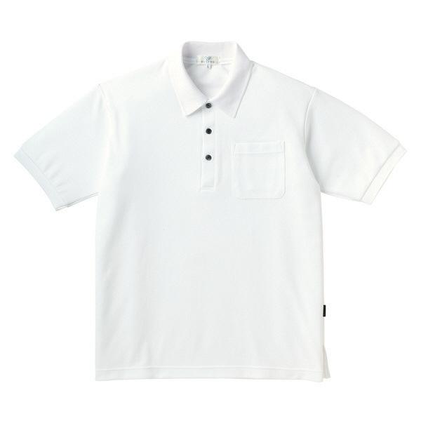 トンボ キラク ポロシャツ 白 M CR164-01 1枚  (取寄品)