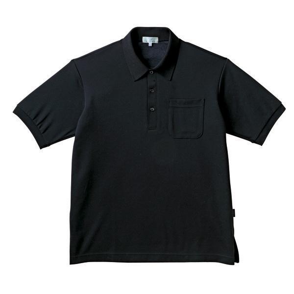 トンボ キラク ポロシャツ 黒 L CR164-09 1枚  (取寄品)