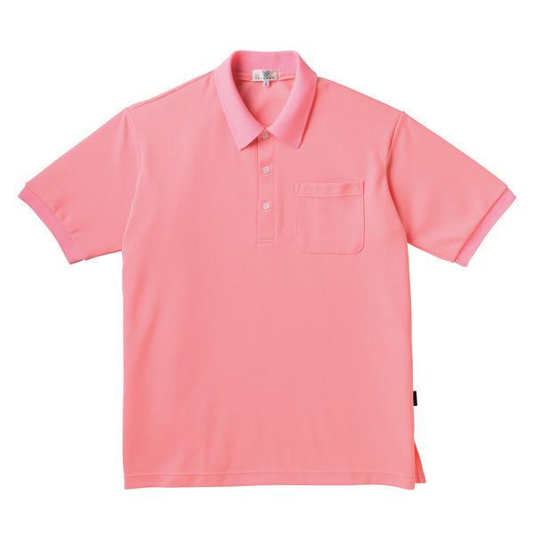 トンボ キラク ポロシャツ  ピーチ L CR164-11 1枚  (取寄品)