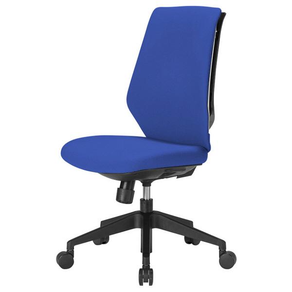 中央可鍛工業 スコルド(SKOLD) オフィスチェア ホワイト樹脂メッシュ 背パッド付 肘無し ブルー YC-210FW-BL 1脚 (取寄品)