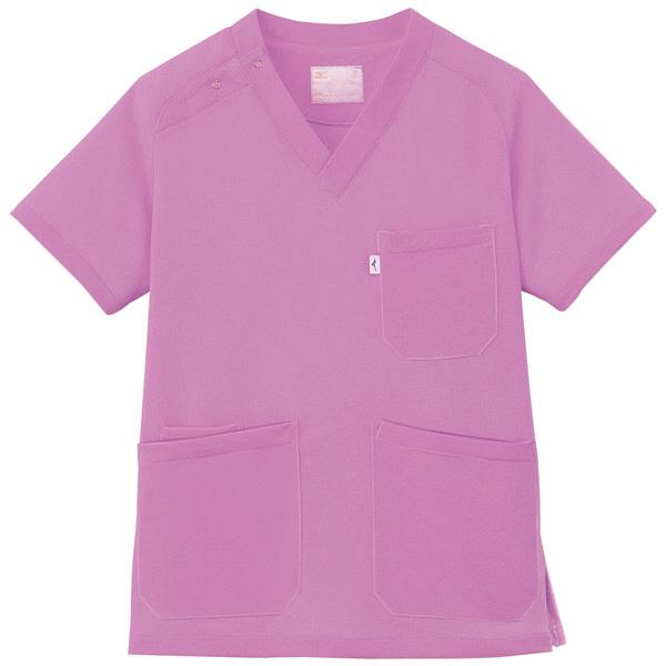ミズノ ユナイト ニットスクラブ(男女兼用) バイオレット SS MZ0084 医療白衣 1枚 (取寄品)