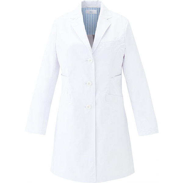 ミズノ ユナイト ドクターコート(女性用) ホワイト×ホワイト S MZ0113 医療白衣 診察衣 薬局衣 1枚 (取寄品)