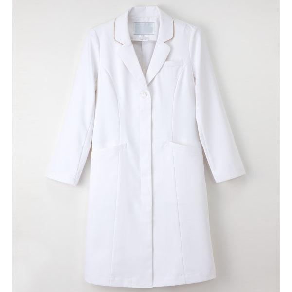 【メーカーカタログ】ナガイレーベン 女子ドクターコート  ホワイト  S EH-3710 1枚  (取寄品)
