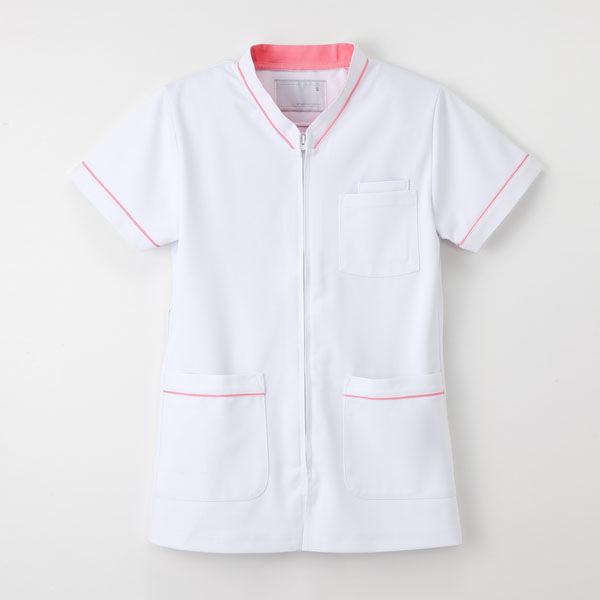 ナガイレーベン 白衣 男女兼用スクラブ HOS-4977 Tピンク S 1枚 (取寄品)