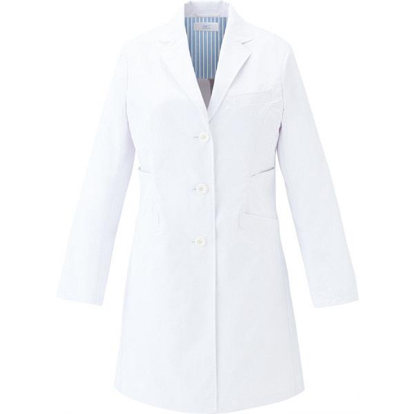ミズノ ユナイト ドクターコート(女性用) ホワイト×ホワイト L MZ0113 医療白衣 診察衣 薬局衣 1枚 (取寄品)