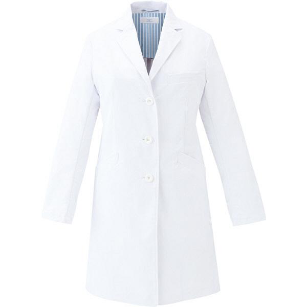 ミズノ ユナイト ドクターコート(女性用) ホワイト L MZ0115 医療白衣 診察衣 薬局衣 1枚 (取寄品)