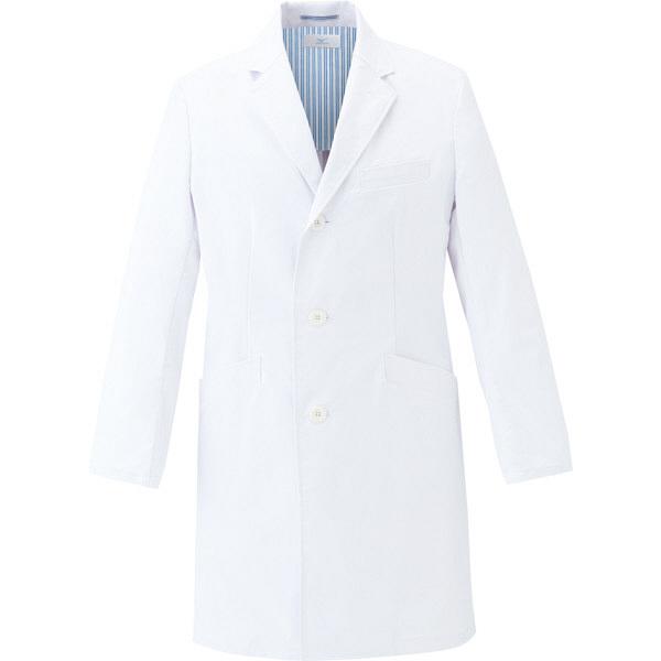 ミズノ ユナイト ドクターコート(男性用) ホワイト L MZ0116 医療白衣 診察衣 薬局衣 1枚 (取寄品)