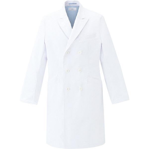 ミズノ ユナイト ドクターコート(男性用) ホワイト L MZ0117 医療白衣 診察衣 薬局衣 1枚 (取寄品)