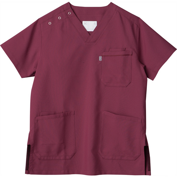 ミズノ ユナイト スクラブ(男女兼用) ワイン L MZ0018A 医療白衣 1枚 (取寄品)