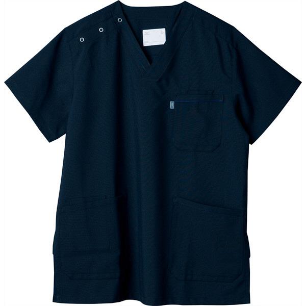 ミズノ ユナイト スクラブ(男女兼用) ダークネイビー LL MZ0018A 医療白衣 1枚 (取寄品)