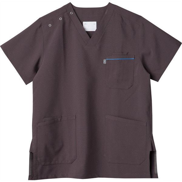 ミズノ ユナイト スクラブ(男女兼用) チャコールグレー L MZ0018A 医療白衣 1枚 (取寄品)