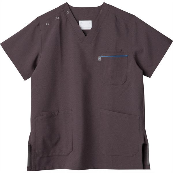 ミズノ ユナイト スクラブ(男女兼用) チャコールグレー 4L MZ0018A 医療白衣 1枚 (取寄品)