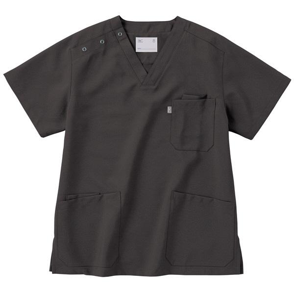 ミズノ ユナイト スクラブ(男女兼用) チャコールグレー L MZ0021 医療白衣 1枚 (取寄品)