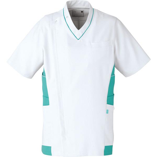 【メーカーカタログ】ユナイト ケーシージャケット[男] エメラルドグリーン S UN0045 1枚  (取寄品)