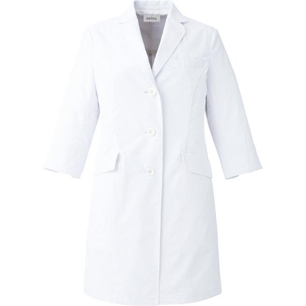 【メーカーカタログ】ユナイト ドクターコート[女] ホワイト L UN0049 1枚  (取寄品)
