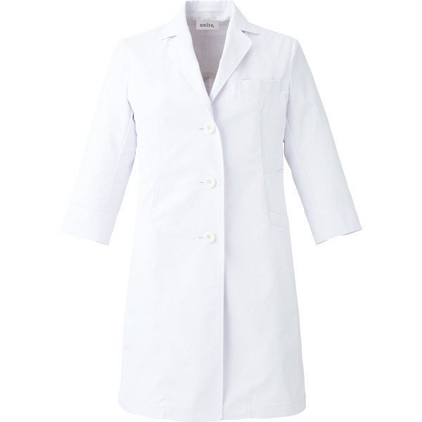 【メーカーカタログ】ユナイト ドクターコート[女] ホワイト M UN0050 1枚  (取寄品)