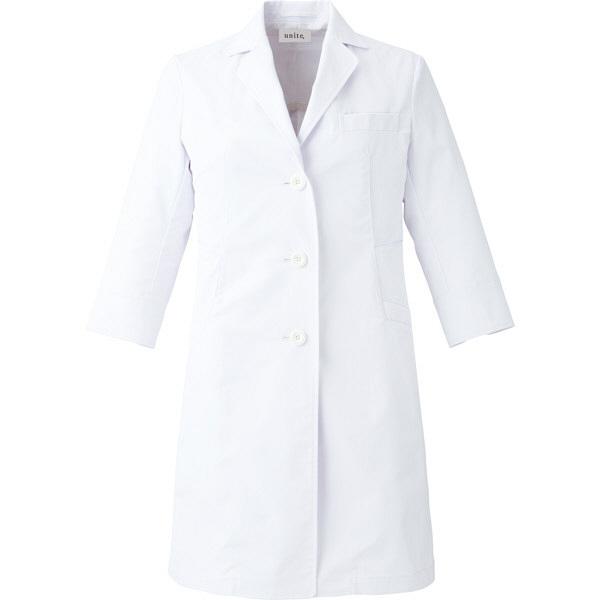 【メーカーカタログ】ユナイト ドクターコート[女] ホワイト L UN0050 1枚  (取寄品)
