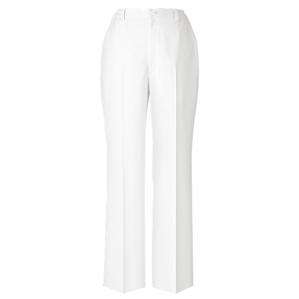 美脚パンツ ノータック ホワイト PO-2025 ホワイト L オンワード 白衣 (取寄品)