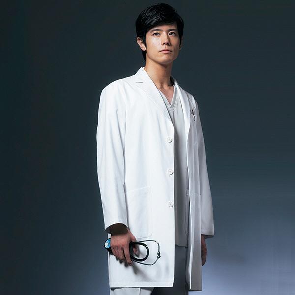 ドクターコート ショート丈 CO-6007 男性用 M オンワード 白衣 (取寄品)