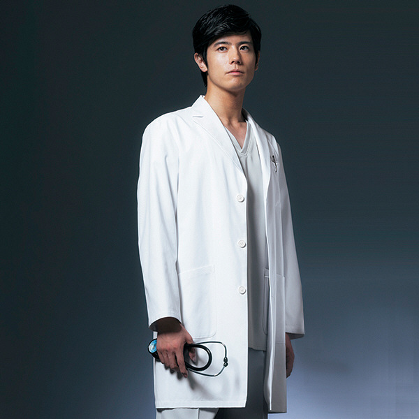 ドクターコート ショート丈 CO-6007 男性用 BL オンワード 白衣 (取寄品)