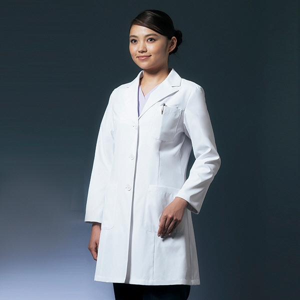 ドクターコート ショート丈 CO-6008 女性用 M オンワード 白衣 (取寄品)
