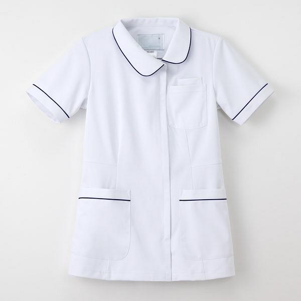 ナガイレーベン ナースジャケット 女性用 半袖 Tロイヤルブルー S HOS-4902 (取寄品)