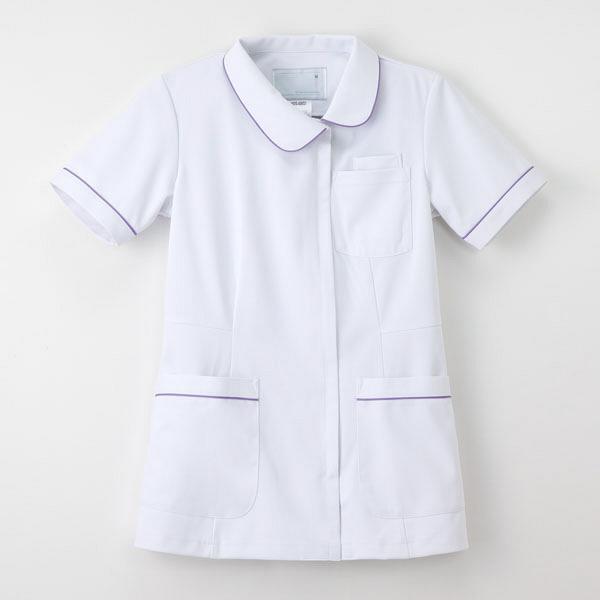 ナガイレーベン ナースジャケット 女性用 半袖 Tラベンダー M HOS-4902 (取寄品)