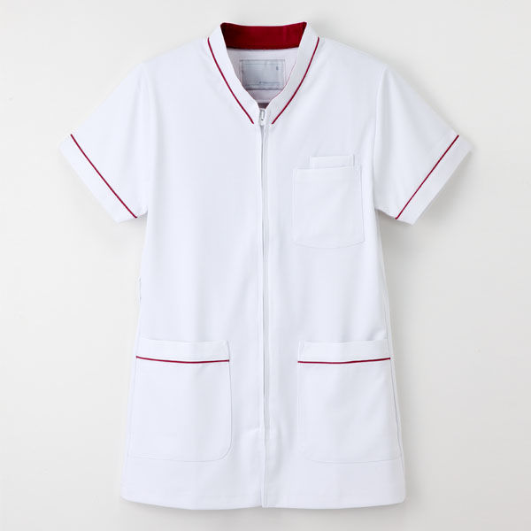ナガイレーベン 白衣 男女兼用スクラブ HOS-4977 Tバーガンディ SS 1枚 (取寄品)