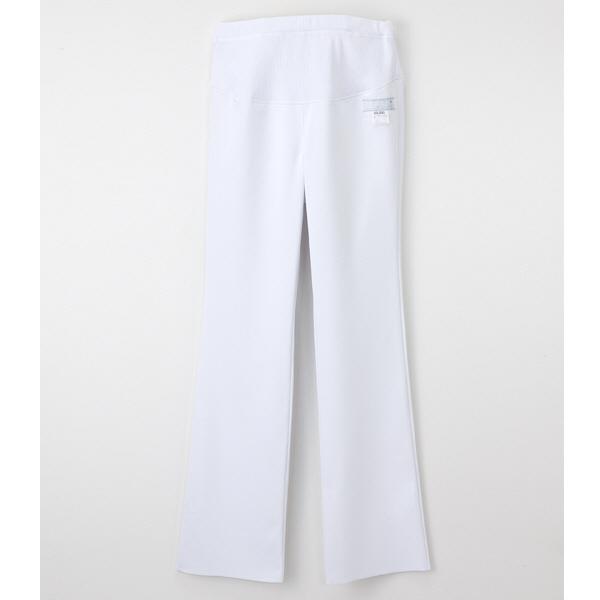 ナガイレーベン マタニティパンツ ホワイト L HOS-4993 マタニティナース 1枚 (取寄品)