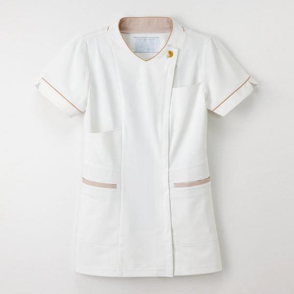 【メーカーカタログ】ナガイレーベン 女子上衣  オフホワイト  EL LH-6272 1枚  (取寄品)