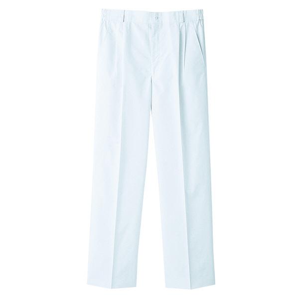 【メーカーカタログ】自重堂 メンズツータックパンツ ホワイト S WH10416 1枚  (取寄品)