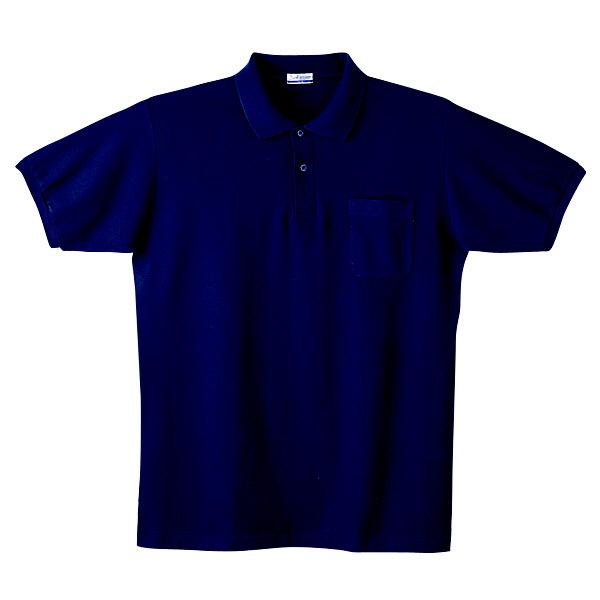 【メーカーカタログ】自重堂 半袖ポロシャツ ネービー 5L 24414 1枚  (取寄品)