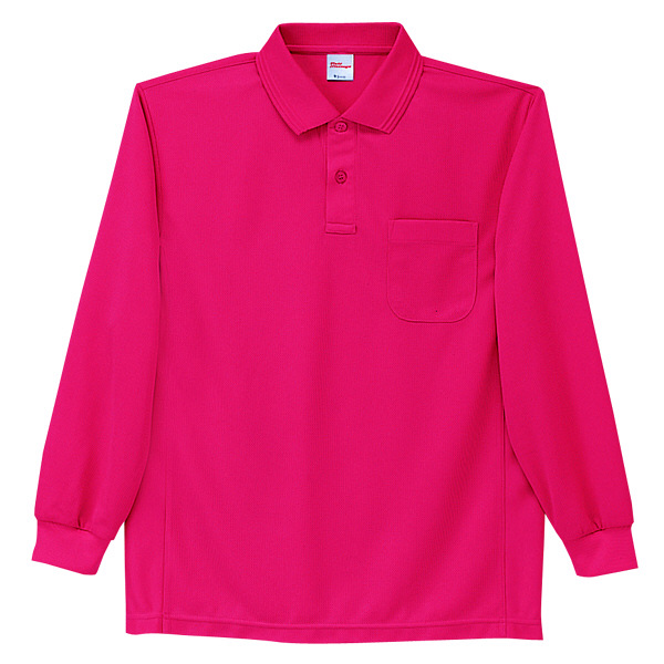 【メーカーカタログ】自重堂 長袖ポロシャツ レッド L 47654 1枚  (取寄品)