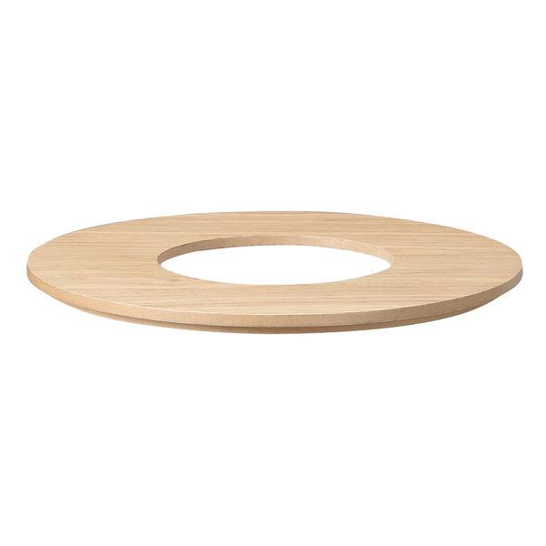 木製ごみ箱用フタ オーク材突板・丸型