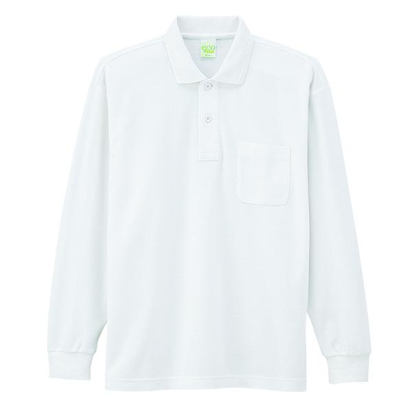 【メーカーカタログ】自重堂 長袖ポロシャツ ホワイト 4L 85244 1枚 (取寄品)