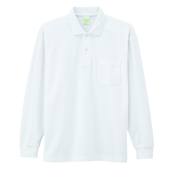 【メーカーカタログ】自重堂 長袖ポロシャツ ホワイト 5L 85244 1枚 (取寄品)