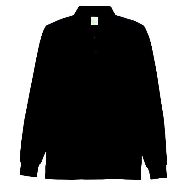 【メーカーカタログ】自重堂 長袖ポロシャツ ブラック 5L 85244 1枚 (取寄品)