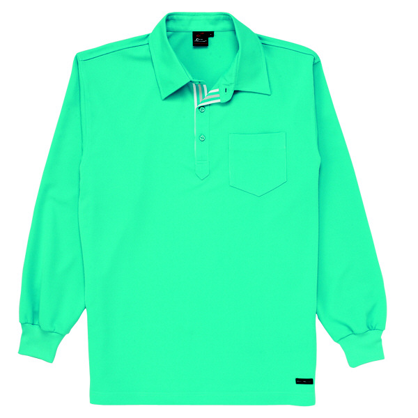 【メーカーカタログ】自重堂 長袖ポロシャツ ターコイズ LL 85204 1枚  (取寄品)