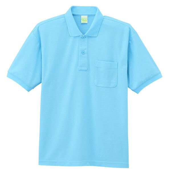 【メーカーカタログ】自重堂 半袖ポロシャツ サックス EL 85254 1枚  (取寄品)