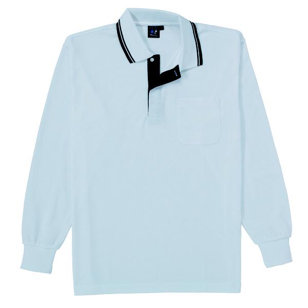 【メーカーカタログ】自重堂 長袖ポロシャツ シルバー EL 85264 1枚 (取寄品)