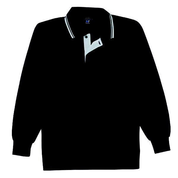 【メーカーカタログ】自重堂 長袖ポロシャツ ブラック M 85264 1枚  (取寄品)