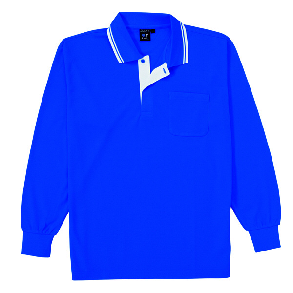 【メーカーカタログ】自重堂 長袖ポロシャツ ロイヤルブルー EL 85264 1枚 (取寄品)