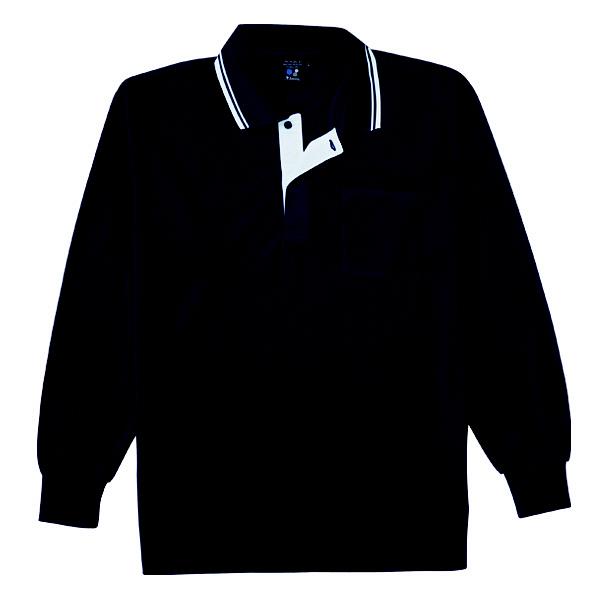 【メーカーカタログ】自重堂 長袖ポロシャツ シックブルー M 85264 1枚  (取寄品)