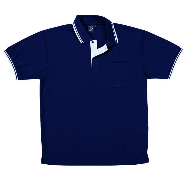 【メーカーカタログ】自重堂 半袖ポロシャツ シックブルー 5L 85274 1枚  (取寄品)